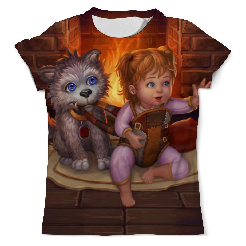 Футболка с полной запечаткой (мужская) Printio Девочка с собачкой футболка с полной запечаткой мужская printio девочка с персиками