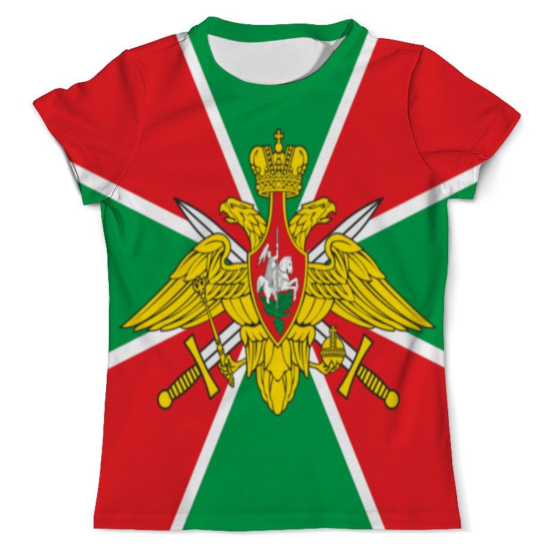 Футболка с полной запечаткой (мужская) Printio Пограничные войска флаг ratel пограничные войска россии двухсторонний 90 х 135 см