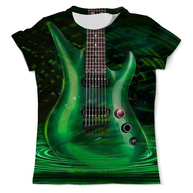Футболка с полной запечаткой (мужская) Printio Green guitar mooer green mile overdrive micro guitar effects pedal true bypass