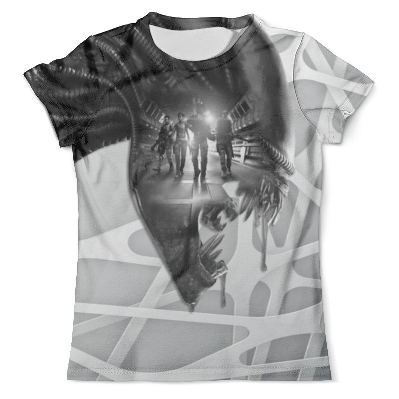 Футболка с полной запечаткой (мужская) Printio Alien black-white футболка с полной запечаткой мужская printio roman legionary white