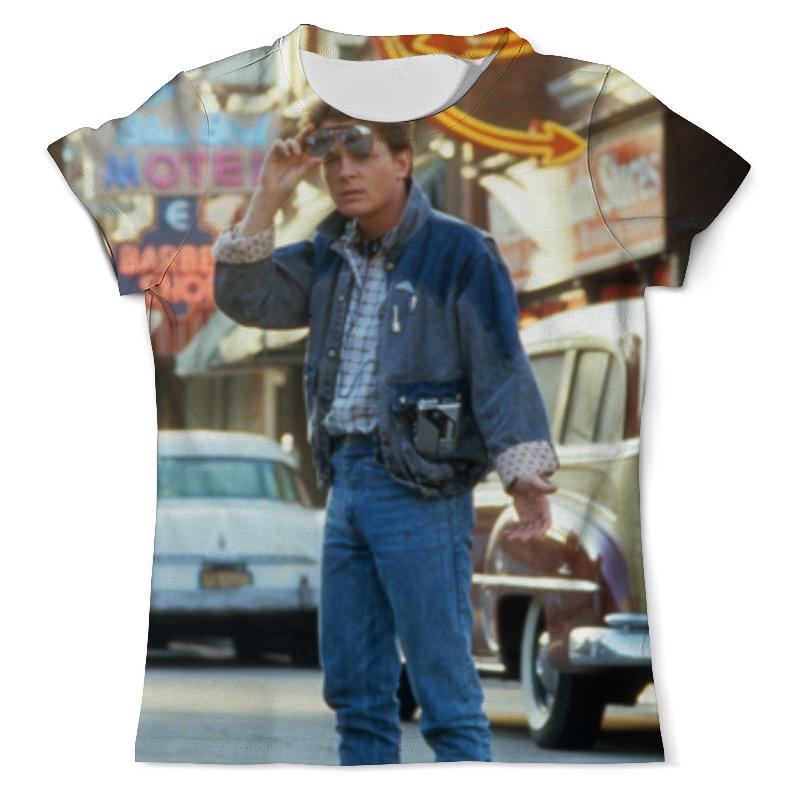 Футболка с полной запечаткой (мужская) Printio Назад в будущее футболка с полной запечаткой мужская printio в клетку