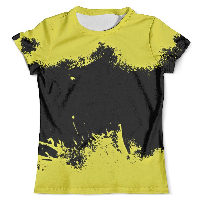Футболка с полной запечаткой (мужская) Printio Черно-желтые краски юбка карандаш укороченная printio черно желтые краски