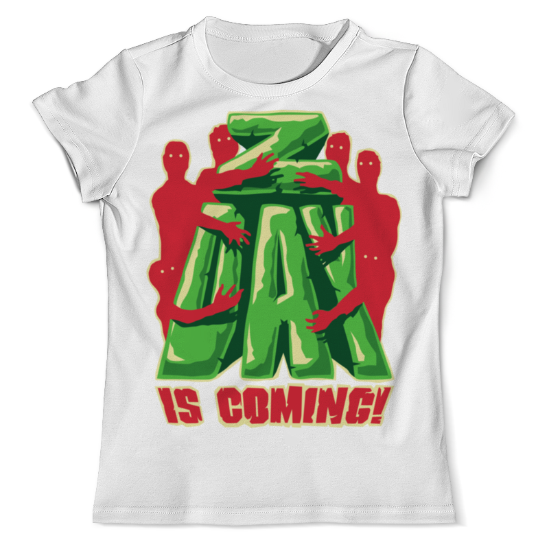 Printio День зомби футболка с полной запечаткой мужская printio последний день помпеи
