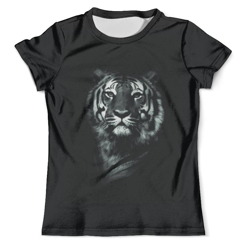 Футболка с полной запечаткой (мужская) Printio Белый тигр футболка с полной запечаткой мужская printio красочный тигр