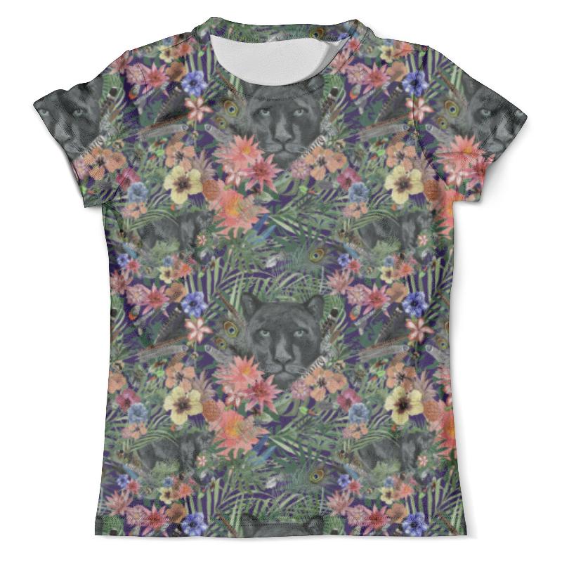 Футболка с полной запечаткой (мужская) Printio Flora & panther design (night) футболка с полной запечаткой мужская printio flora