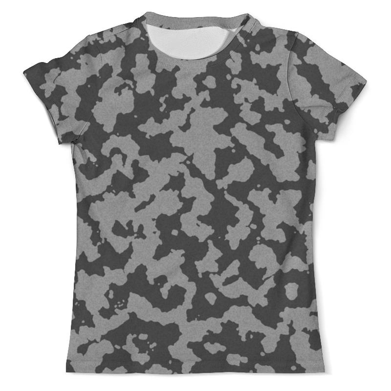 Футболка с полной запечаткой (мужская) Printio Тёмно-серый камуфляж футболка с полной запечаткой мужская printio яркий камуфляж