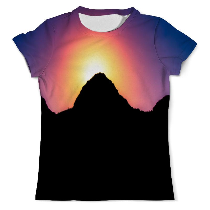 Фото - Футболка с полной запечаткой (мужская) Printio Закат солнца футболка с полной запечаткой мужская printio розовый закат