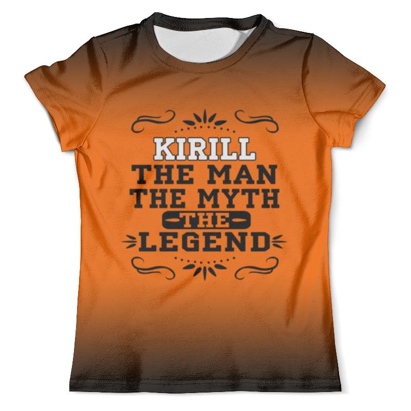Футболка с полной запечаткой (мужская) Printio Кирилл the legend футболка с полной запечаткой мужская printio кирилл слука
