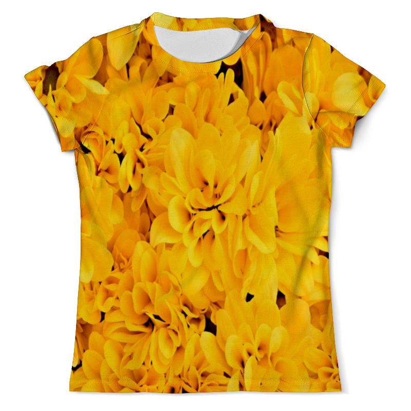 Футболка с полной запечаткой (мужская) Printio Желтые цветы рюкзак с полной запечаткой printio желтые цветы