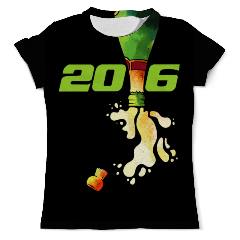 Футболка с полной запечаткой (мужская) Printio Новый год 2016! футболка с полной запечаткой мужская printio dtm 2016 mattias ekstrom