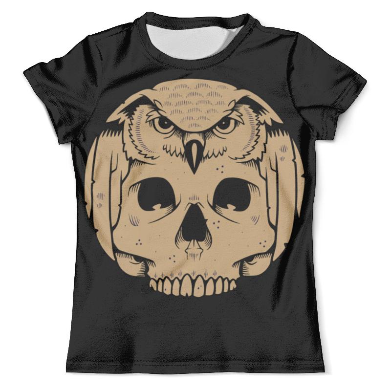 Футболка с полной запечаткой (мужская) Printio Owl scull / сова с черепом футболка с полной запечаткой мужская printio фрактальная эзотерика мандалы