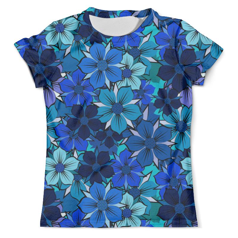 Printio Floral design floral lace up design v neck long sleeves high waisted dresses