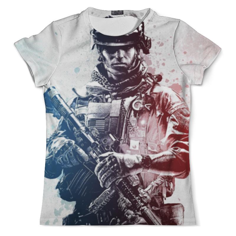 Футболка с полной запечаткой (мужская) Printio Солдат (battlefield) футболка с полной запечаткой мужская printio солдат battlefield