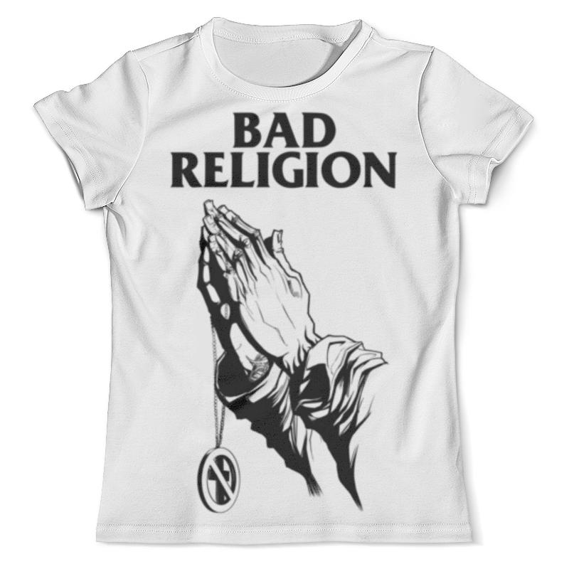 Футболка с полной запечаткой (мужская) Printio Bad religion футболка religion mb wsg01 white black