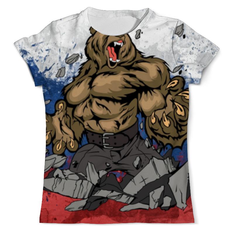 Футболка с полной запечаткой (мужская) Printio Русский медведь (russian bear)