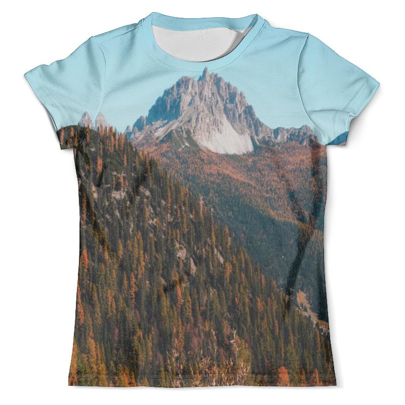 Футболка с полной запечаткой (мужская) Printio Скалы и лес футболка с полной запечаткой мужская printio сумрачный лес