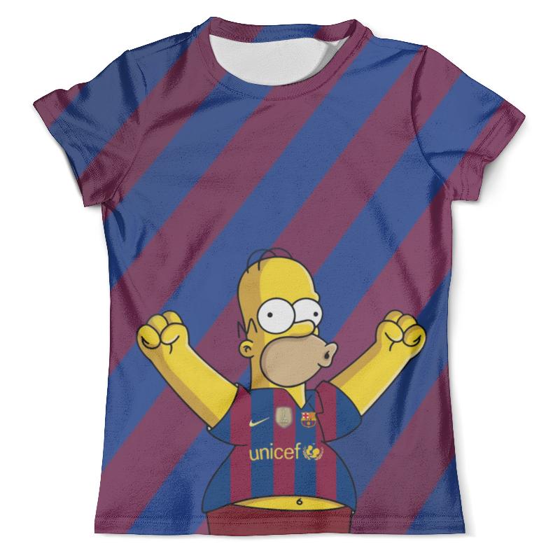 Футболка с полной запечаткой (мужская) Printio Симпсон футболист футболка с полной запечаткой мужская printio футболист