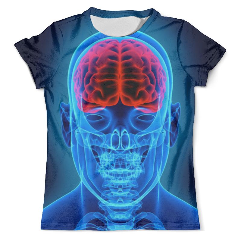 Футболка с полной запечаткой (мужская) Printio X-ray skull футболка с полной запечаткой мужская printio x ray of bones