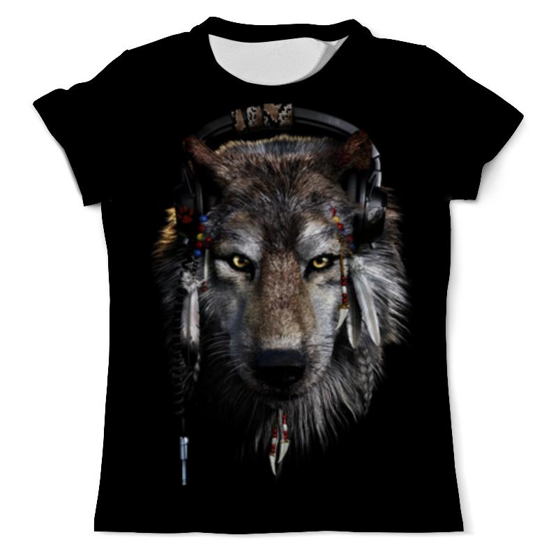 Футболка с полной запечаткой (мужская) Printio Волк в наушниках футболка с полной запечаткой мужская printio красная шапочка и серый волк 3
