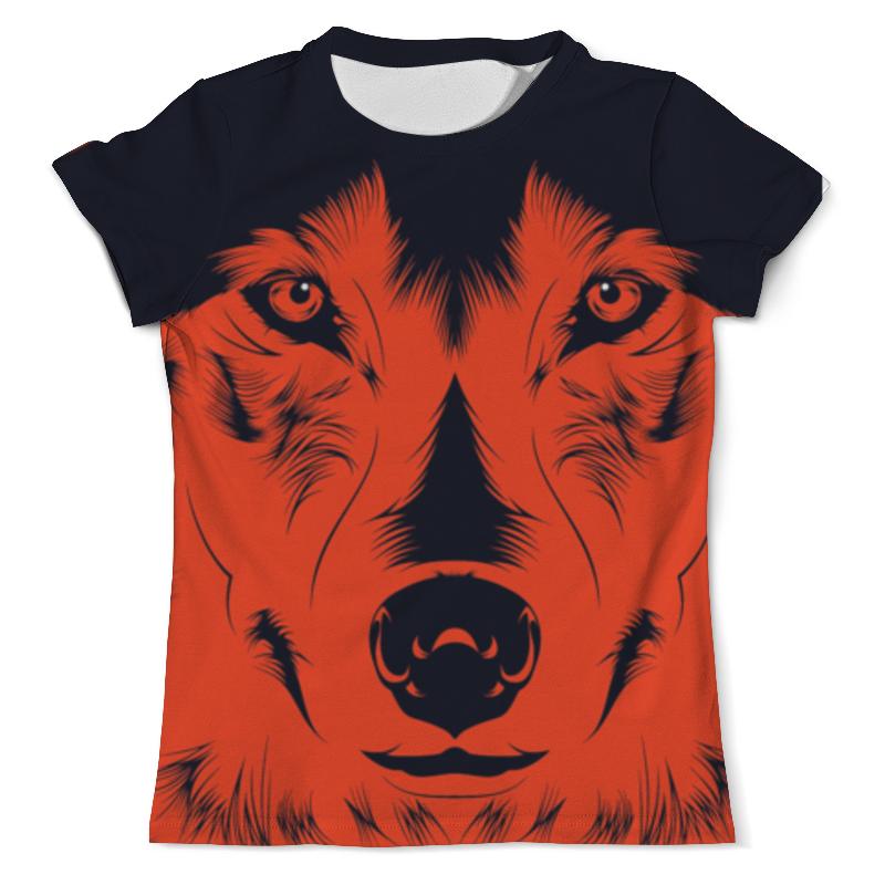 Футболка с полной запечаткой (мужская) Printio Волк красный футболка с полной запечаткой мужская printio красная шапочка и серый волк 3