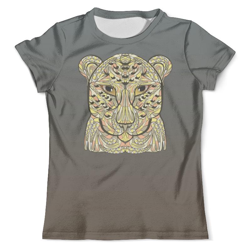 Футболка с полной запечаткой (мужская) Printio Ethnic leopard fashionable scoop neck green leopard pattern sleeveless romper for women