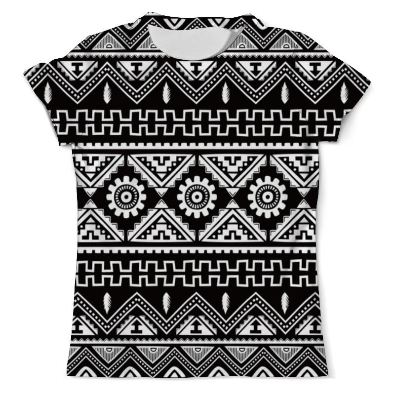 Printio Черно-белая графика футболка белая мужская без рисунка