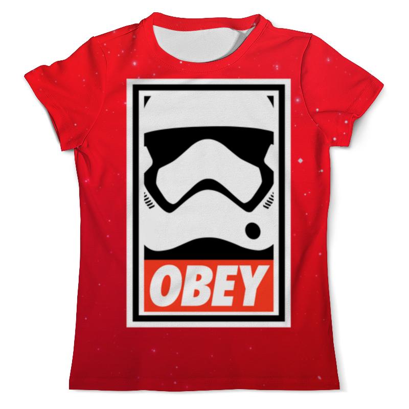Фото - Футболка с полной запечаткой (мужская) Printio Obey satrwars футболка мужская baby er vans aj diamond dgk huf obey