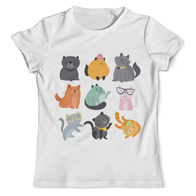 Футболка с полной запечаткой (мужская) Printio Цветные кошки футболка с полной запечаткой для девочек printio цветные кошки