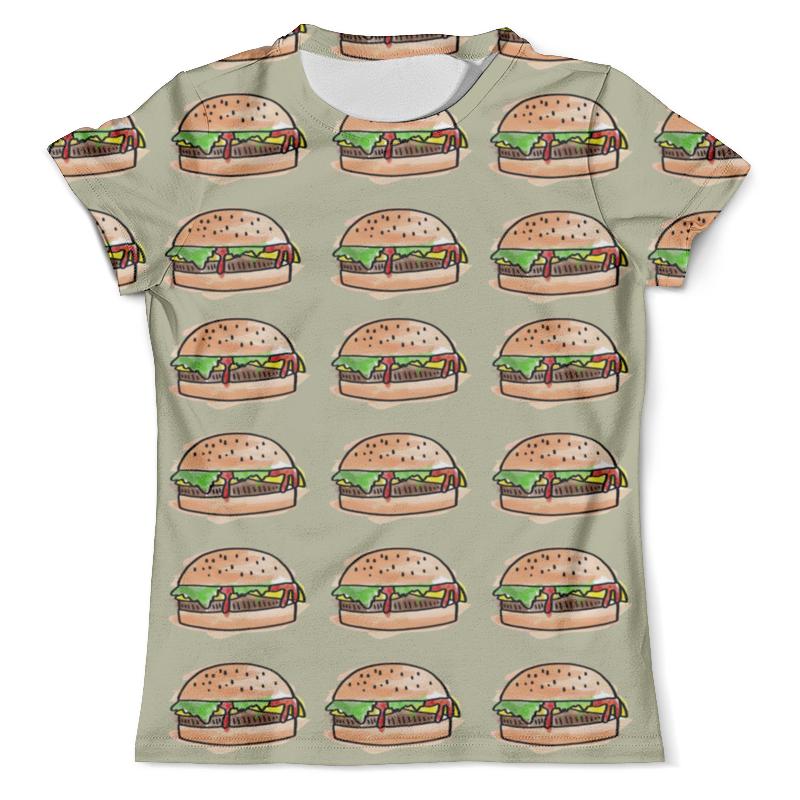 все цены на Футболка с полной запечаткой (мужская) Printio I love burgers!