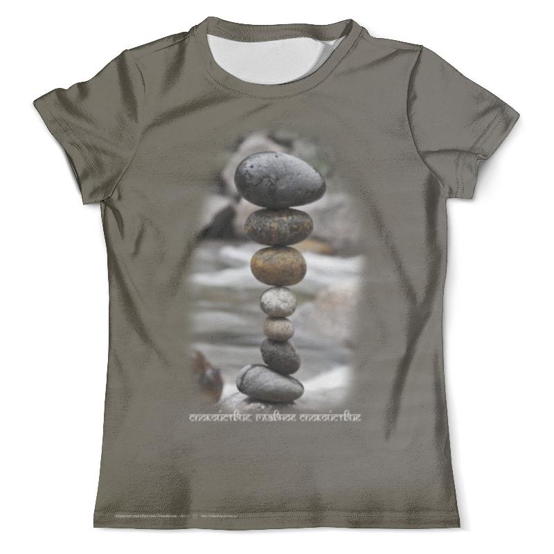 Футболка с полной запечаткой (мужская) Printio Каменные пирамидки. спокойствие... #3