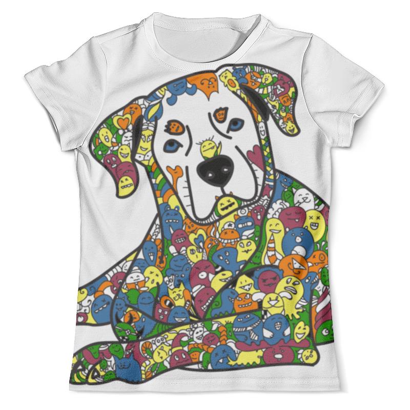 Футболка с полной запечаткой (мужская) Printio Собака из дудл монстров рубашка поло с полной запечаткой printio собака из дудл монстров