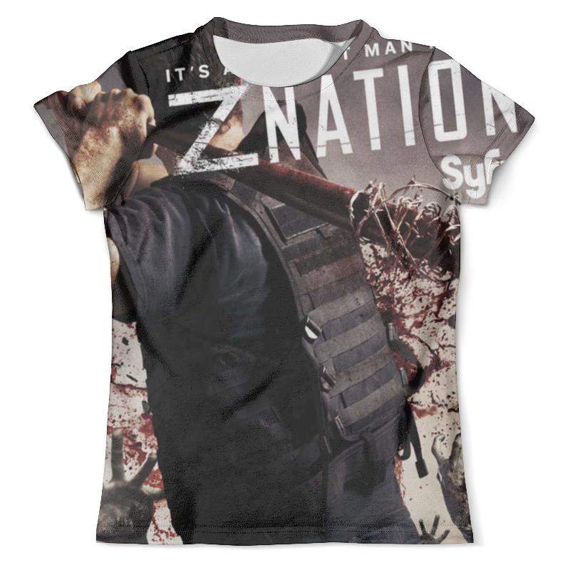 Футболка с полной запечаткой (мужская) Printio Нация z / z nation рубашка мужская f k z cs08