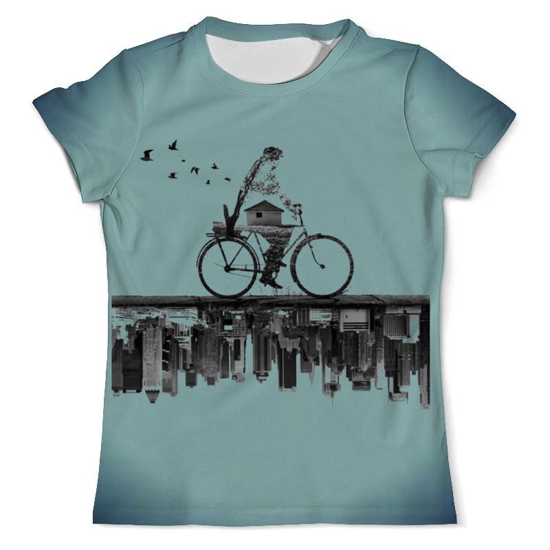 Футболка с полной запечаткой (мужская) Printio Город внизу футболка с полной запечаткой мужская printio осень город такси тоска
