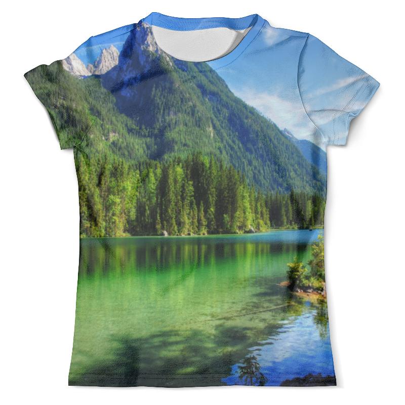Футболка с полной запечаткой (мужская) Printio Горное озеро футболка с полной запечаткой женская printio подземное озеро