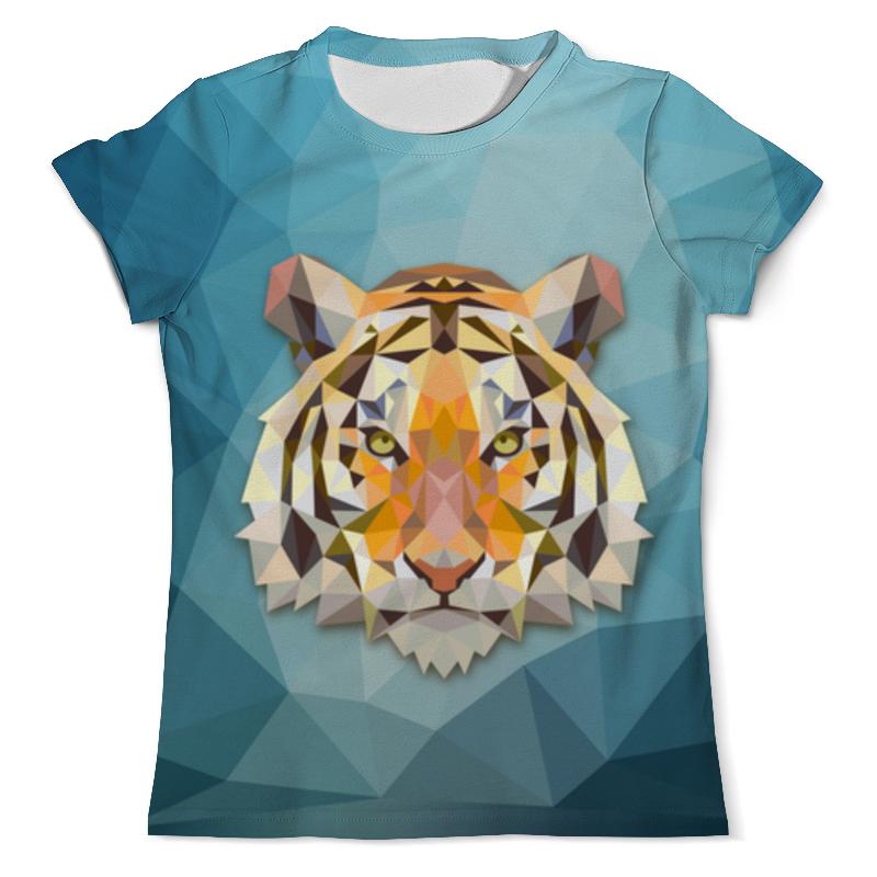 Футболка с полной запечаткой (мужская) Printio Полигональный тигр футболка с полной запечаткой мужская printio тигр в каске