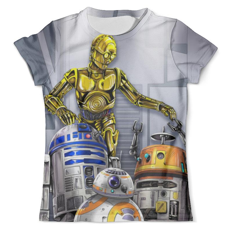 Футболка с полной запечаткой (мужская) Printio Star wars droids цена