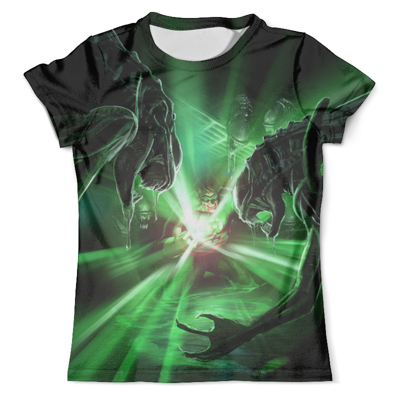 Футболка с полной запечаткой (мужская) Printio Green lantern vs aliens (1) футболка с полной запечаткой мужская printio the mask vs beetlejuice 1