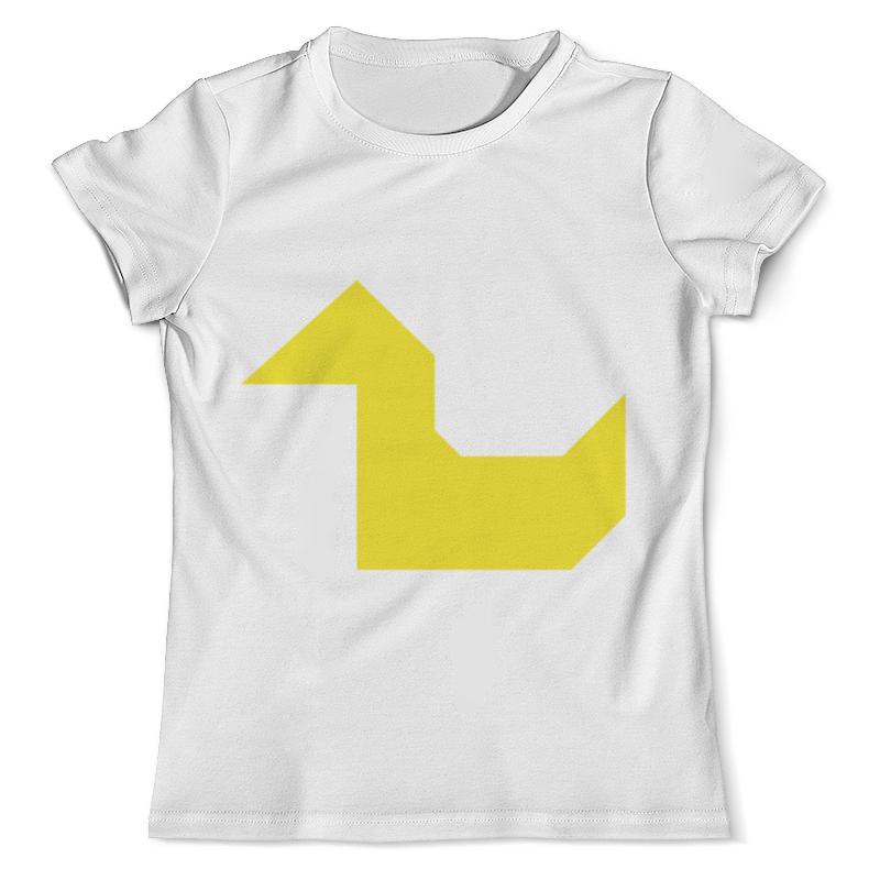 Printio Жёлтая утка танграм футболка с полной запечаткой мужская printio жёлтая собака танграм