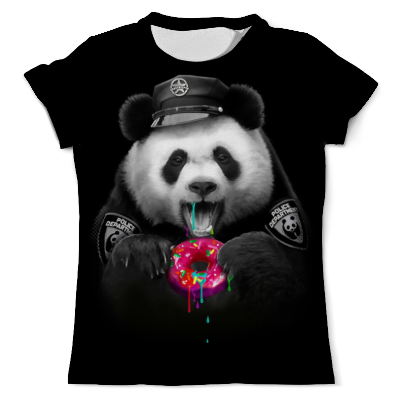 Футболка с полной запечаткой (мужская) Printio Panda police все цены