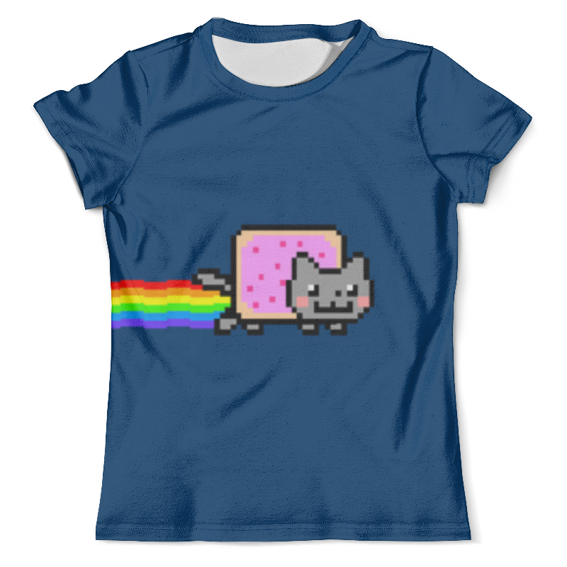 Футболка с полной запечаткой (мужская) Printio Nyan cat сумка с полной запечаткой printio line cat