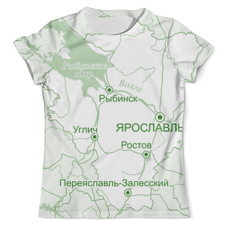Футболка с полной запечаткой (мужская) Printio Ярославская область. ярославль. ярославль карта города