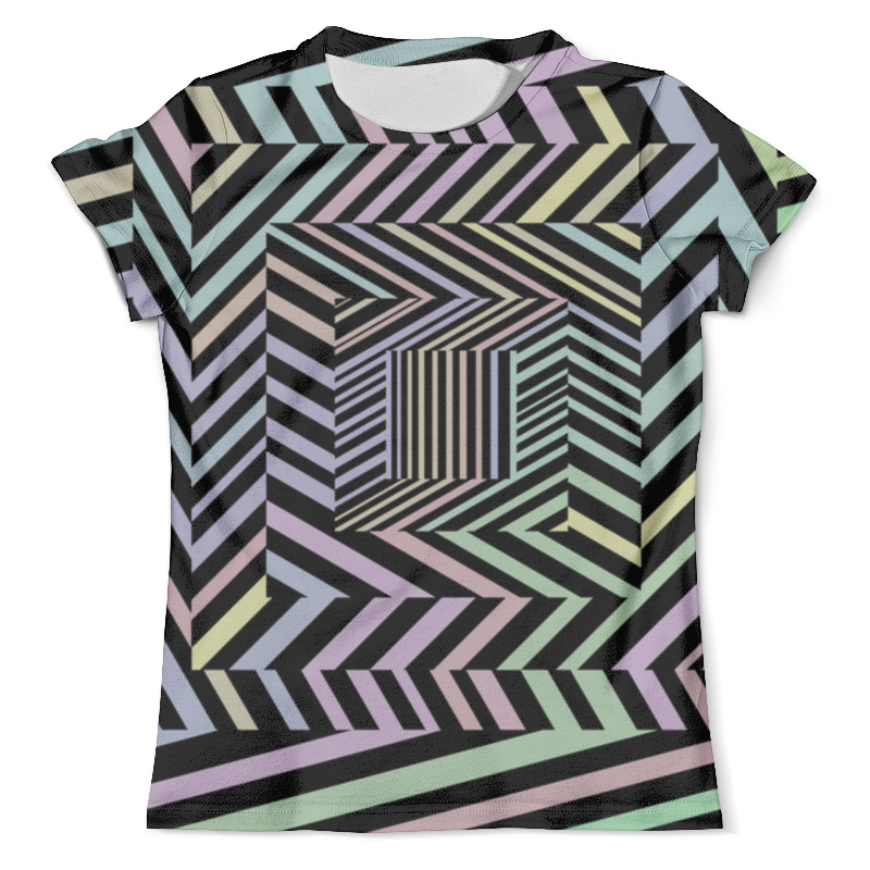 Футболка с полной запечаткой (мужская) Printio Иллюзия футболка с полной запечаткой для девочек printio иллюзия