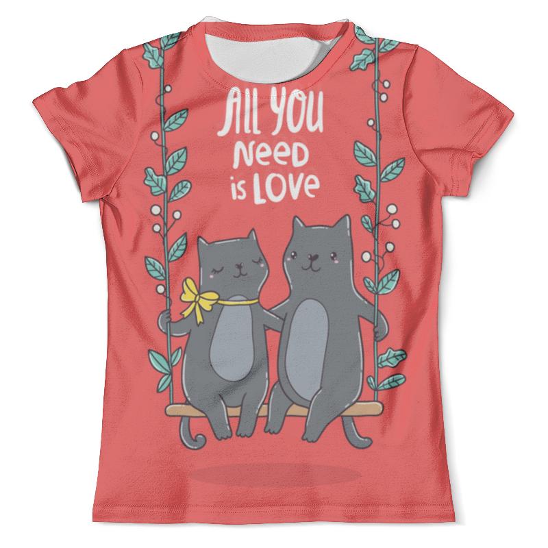 Футболка с полной запечаткой (мужская) Printio All you need is love. кошки на качелях. футболка с полной запечаткой мужская printio love is