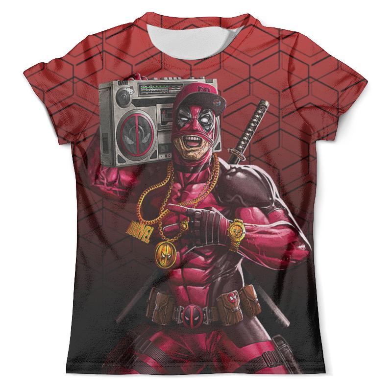Футболка с полной запечаткой (мужская) Printio Deadpool music (new) цены