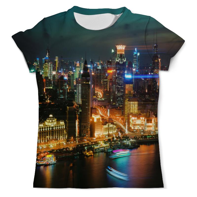 Футболка с полной запечаткой (мужская) Printio Ночной город футболка с полной запечаткой женская printio ночной городок