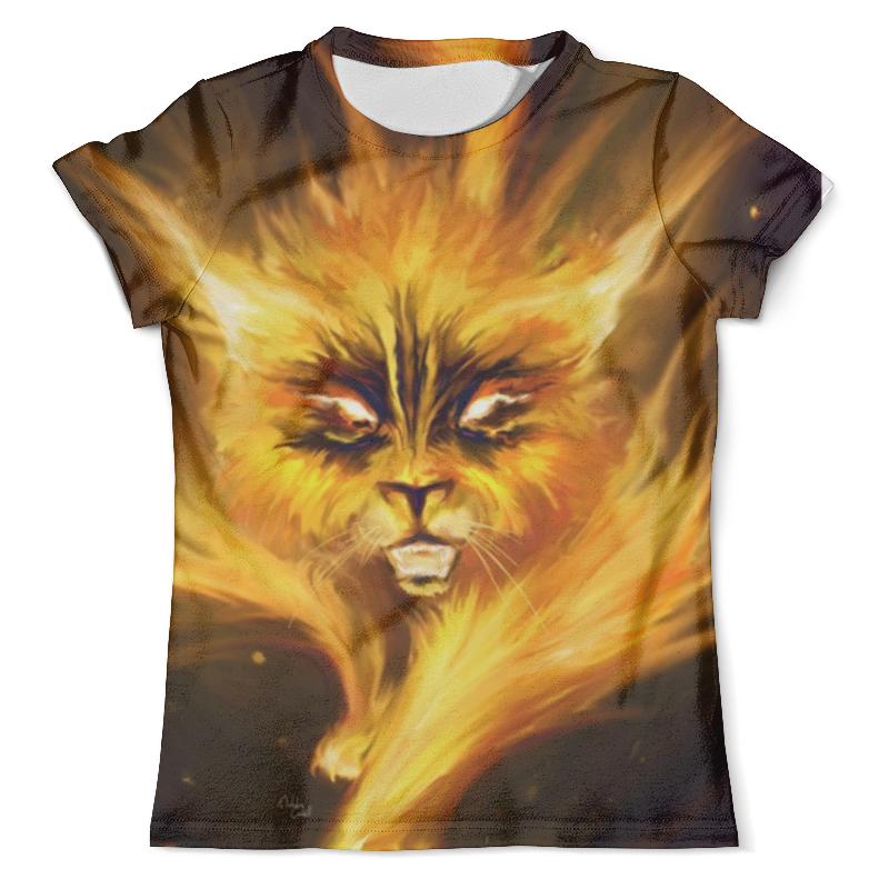 Футболка с полной запечаткой (мужская) Printio Огненный кот футболка с полной запечаткой мужская printio огненный дракон