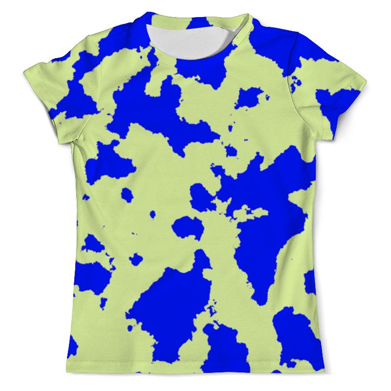 Футболка с полной запечаткой (мужская) Printio Сине-зелёный камуфляж davines пластичная паста для объемного невидимого стайлинга more inside medium hold pliable paste 125 мл