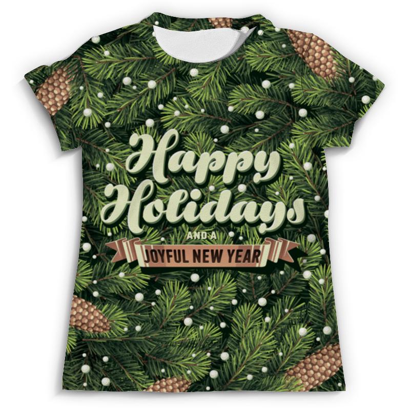 Футболка с полной запечаткой (мужская) Printio С новым годом! (happy new year) фартук с полной запечаткой printio happy new year 2017