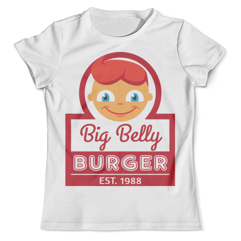 Футболка с полной запечаткой (мужская) Printio Big belly burger beer burger