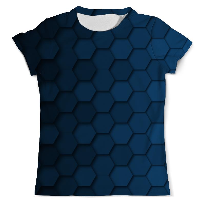 Футболка с полной запечаткой (мужская) Printio Синяя абстракция футболка с полной запечаткой женская printio синяя абстракция